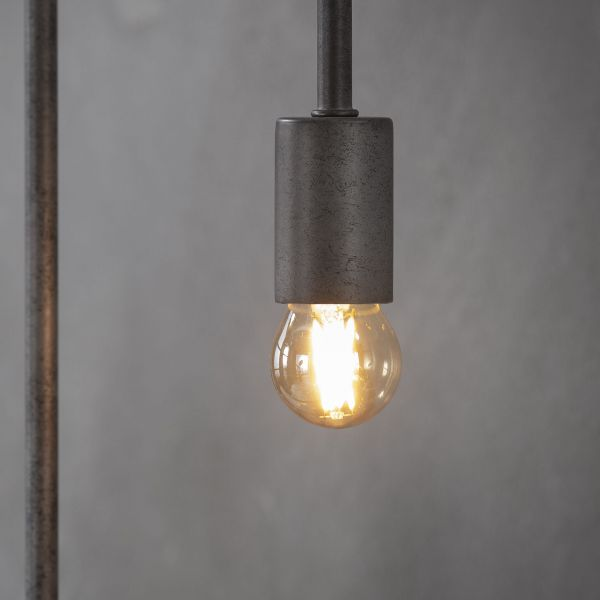 Lichtbron LED filament bol Ø4 5 - E27 4W 2100K 280lm dimbaar - Amberkleurig glas