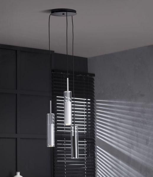 Hanglamp Tre Cilindro - Mat nikkel