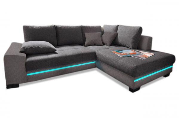 Castello Hoekbank XL Nikita - met LED - Antraciet