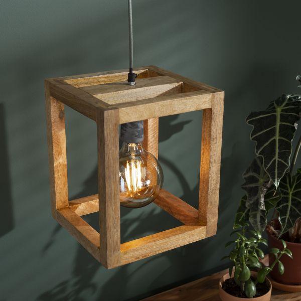 Hanglamp 1x houten frame