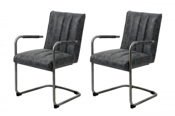 Armstoel striped sledepoot - zwart (2-delige set)