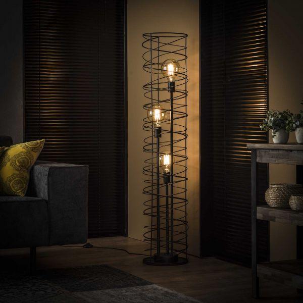 Vloerlamp 3L spiraal Ø28 cilinder - Charcoal