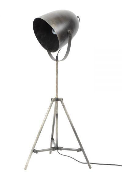 Vloerlamp industry metalen statief - Oud zilver