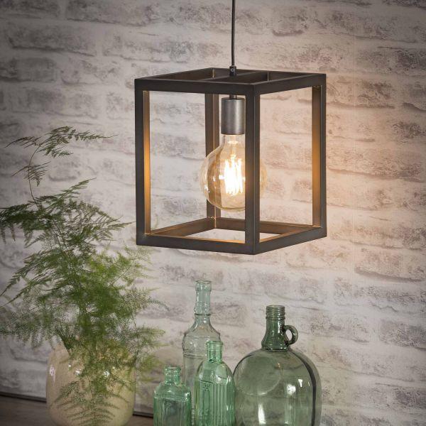 Hanglamp 25x25 vierkante buis - Zilver