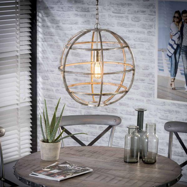 Hanglamp Ø48 globe - Antiek Nikkel