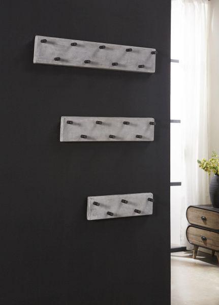 Garderobe 9 haaks RVS - Concrete
