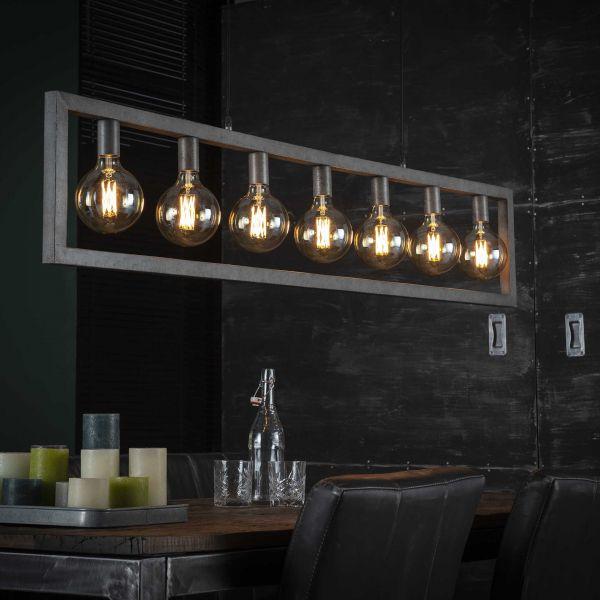 Hanglamp 7L steps - Oud zilver