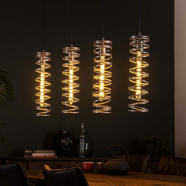 Hanglamp 4L spiral - Burned zilverkleurig
