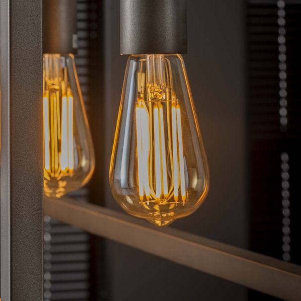 Lichtbron LED filament druppel - E27 6W 2100K 450lm dimbaar - Amberkleurig glas
