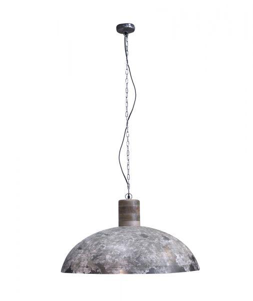 Hanglamp Ø80 verweerd houten knop - Verweerd koper