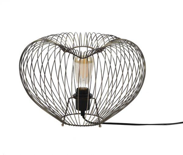 Tafellamp Ø38 bol wire frame - Brons antiek