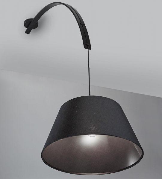 Plafondlamp 1L Tonda - Zwart
