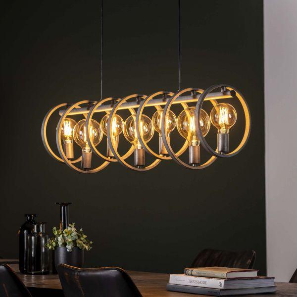 Hanglamp 7L circular - Oud zilver