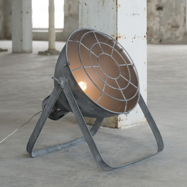 Vloerlamp Ø35 raster industry concrete - Grijs