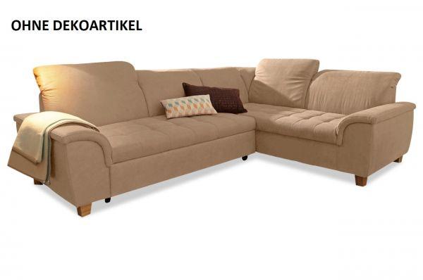 Hoekbank XL Franzi - met slaapfunctie - Creme