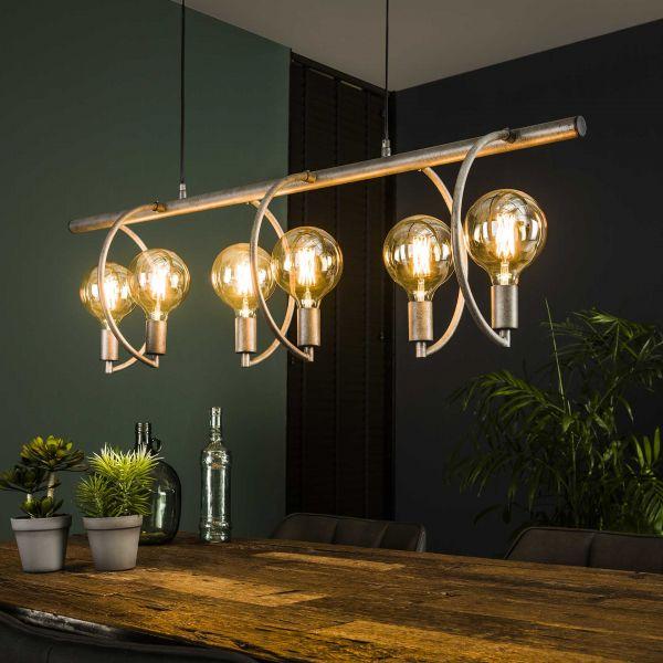 Hanglamp 6L Chop - Oud zilver