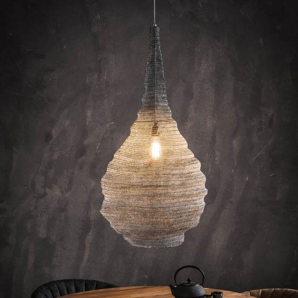 Hanglamp Ø50 mesh trechter - Grijs