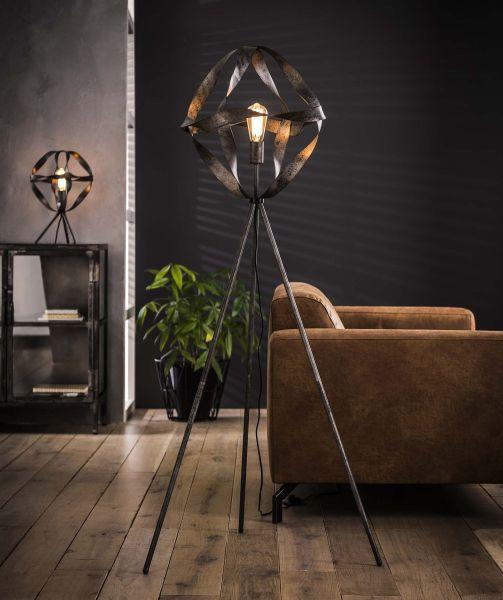 Vloerlamp Ø50 twist - Oud zilver