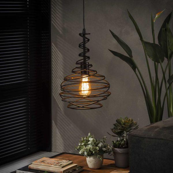 Hanglamp 1x Ø25 kegel spinn - Zwart