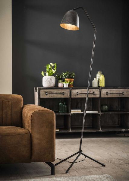 Vloerlamp triangel voetje - Charcoal