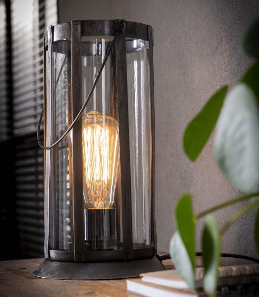 Tafellamp lantaarn rond - zilver