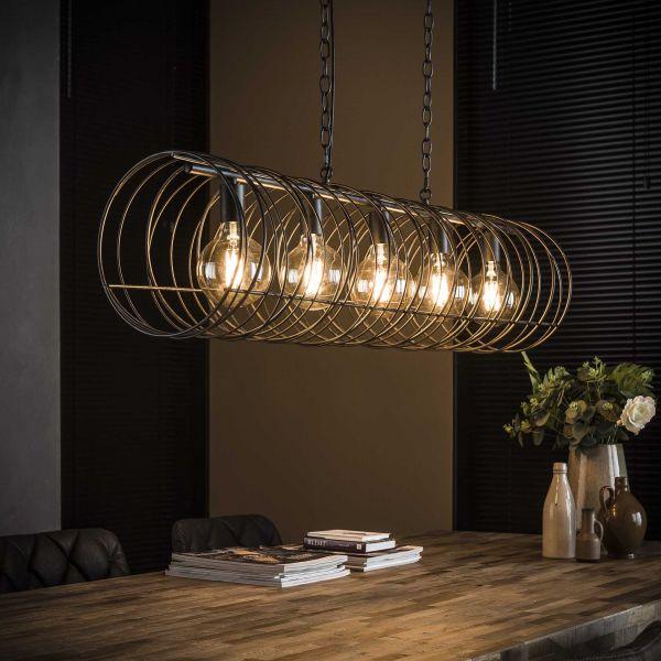 Hanglamp 5L spiraal Ø28 cilinder - Charcoal