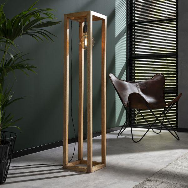 Vloerlamp 25x25 houten frame