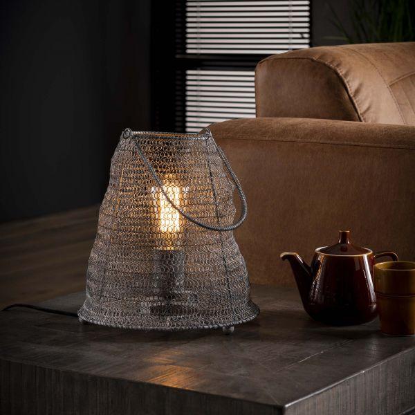 Tafellamp Ø26 mesh handvat - Grijs