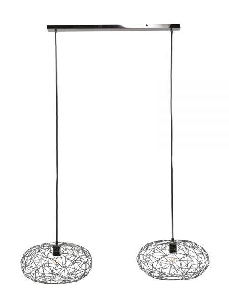 Hanglamp 2x maze - Zwart nikkel