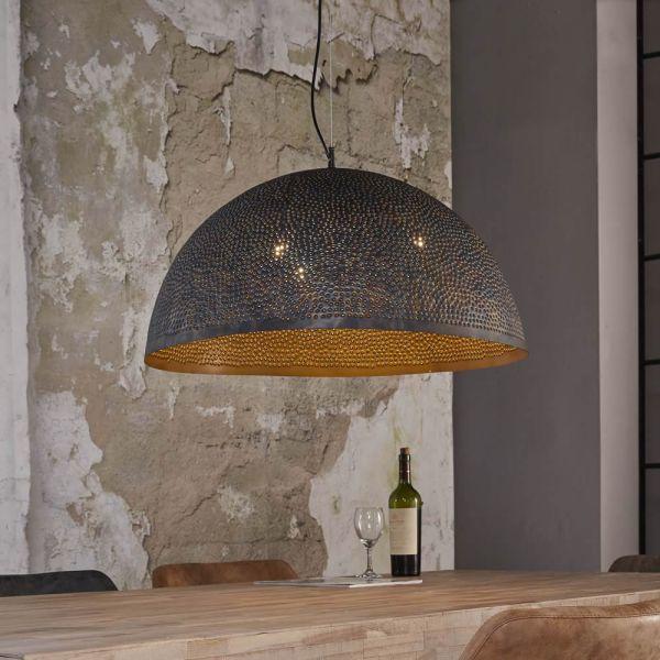 Hanglamp Ø70 punch - Zwart bruin