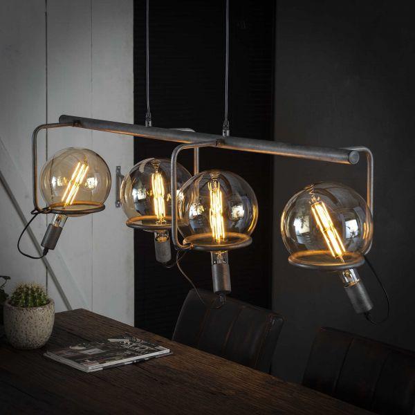 Hanglamp 4L saturn Ø20 lichtbron - Oud zilver
