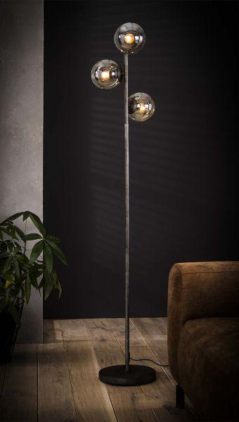 Vloerlamp 3x ronde bol - Oud zilver
