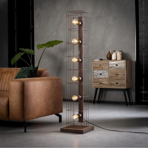 Vloerlamp 6L kooi - Roestbruin
