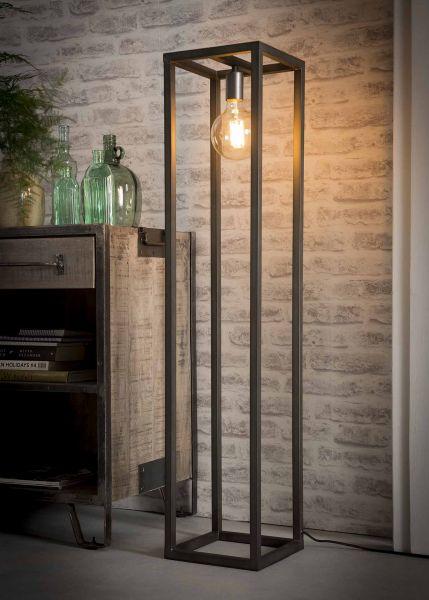 Vloerlamp 25x25 vierkante buis - Zilver